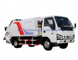 China Made 6 Wheels 5m3 Japan Brand Isuzu 4X2 LHD Garbage Truck