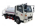 Factory Supply HOWO 5000liter Stainless Steel Water Tank Truck LHD/Rhd
