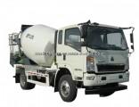 130HP 4X2 Sinotruk HOWO 4m3 Concrete Mixer Truck