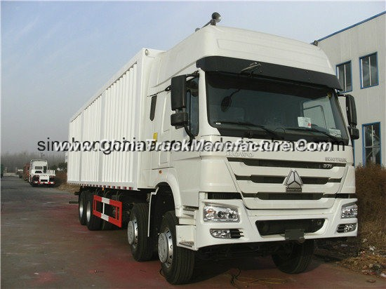 Sinotruk HOWO 8X4 371HP Van Cargo Truck