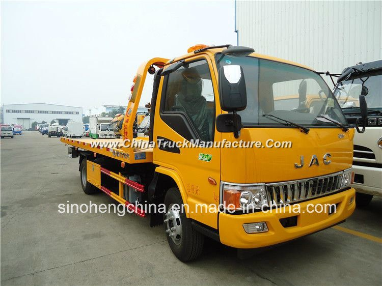 High Quality Best 130HP JAC 4X2 Flatbed Wrecker Towing Truck