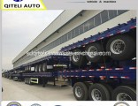 3 Axle 40t Container Flatbed Semi-Trailer with Container Locks