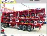 Fuwa Axles 3 Axles 40 Tons Flatbed Semi Trailer