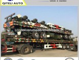 40FT 2 Axle 3 Axis Container Loading Flatbed Trailer Flatbed Semi Trailer