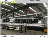 3axles Extendable Semi Flatbed Trailer for 25m Cargo Transport