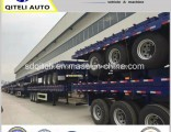 30-40ton 3 Axle 40FT Container Flatbed Semi Trailer
