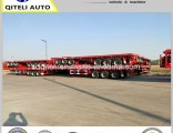 3 Axle 12 Wheel Flatbed Container Semi Trailer