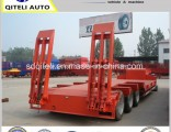 3 Axle 60 Ton Lowbed Semi Trailer Dolly Trailer Hydraulic Ramp Low Bed Trailer for Sale