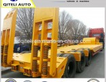 Tri-Axle Excavator Transport Gooseneck Lowboy Low Bed Lowbed Semi Trailer