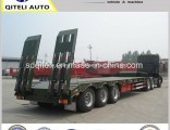 3 Axles 60ton Lowbed Lowboy Semi Trailer for Heavy Machine Transport