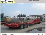 Tri-Axle 40FT Gooseneck Excavator Transporter Lowbed Semi Trailer