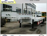 70ton Machinery Low Loader Trailer 45ton Lowbed Semi Trailer for Algeria