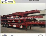 3 Axles Heavy Truck Trailer/ 60tons Heavy Duty Lowbed Semi Trailer