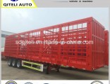 3 Axle Stock Cargo/Stake/Fence/Board/Stake Semi Trailer with Low Price