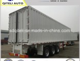 Carbon Steel 3 Axles Van/Box Truck Semi Trailer for Cargo Transport