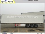 BPW 3 Axles Cargo Cabin Curtain Side Box Truck Semi Trailer