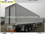 3 Axles Van Type Box Transport Heavy Duty Semi Trailer