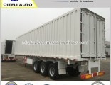 40t 50t 60t Bulk Cargo Carrier Van Semi Trailer Box Semi Trailer