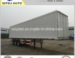 40FT 3axles Box/Van Type Truck Semi Trailer Transport Bulk Cargo