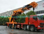 Sinotruck HOWO 10X4 Mounted Crane Truck 160ton Sq3200zb6 Knuckle Crane