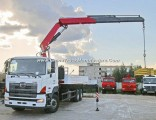 700 Hino 8X4 Cargo Truck with Foldable Arm Knuckle-Boom Palfinger Pk10000 5tone Loading Crane