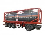 Chemical Liquid Acid ISO Tank Container 30FT for Road Transport Steel Lined LDPE for HCl (max 35%) ,