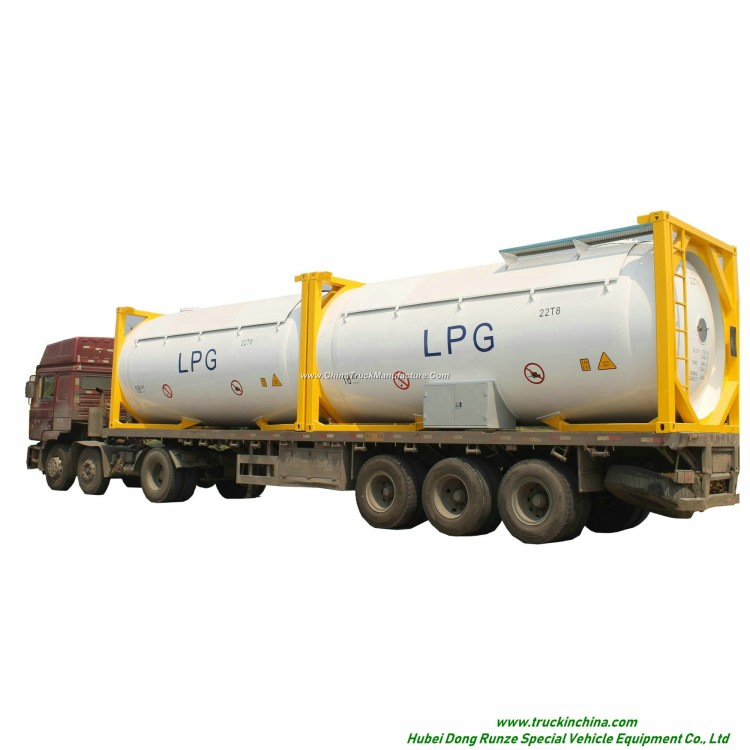 LPG ISO T50 Tank Container 20FT, 30FT, 40 FT Portable or Road Trannsport Un1075 (DEM, Isobutane, coo