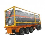 Hydrofluoric Acid Tank Container Un179 Hf for Road Transport (Tanker) in 30FT, 40FT Frame Steel Line