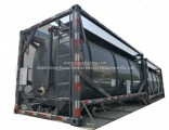 Hydrochloric Acid Solution ISO Tank Container 20FT Frame Locks Customized with Top Loading Pipes for