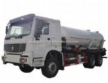 Sinotruk HOWO 10 Wheels VAC Tanker Sewage Sludge Truck with 16000L 18000L Septic Tank Rhd or LHD 6X4