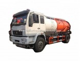 Sinotruk HOWO Combined Sewer Jetting Vacuum Tanker Truck (12000L Tank Cleaner Clean water 4m3, Wast