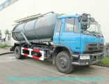 Diesel Vacuum Tanker Truck for Chemcial Factory Sucking Chemical Acid Waste, Tank Inside Lined PE 10