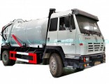 Steyr Vacuum Sewage Suction Tanker Truck Tank 12500 (L) Carbon Steel Rhd or LHD with Pto Vacuum Pump