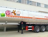 Stainless Steel 304 Food Oil Tanker Semi-Trailer 3 Axles Tank Capacity 45000L to 52000L Shell Polish