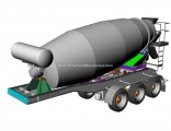 Transit Mixer Tank 10m3-12m3 Concrete Mixer Trailer (2 axles / 3 axles Concrete Mixer Drum Semi-Trai