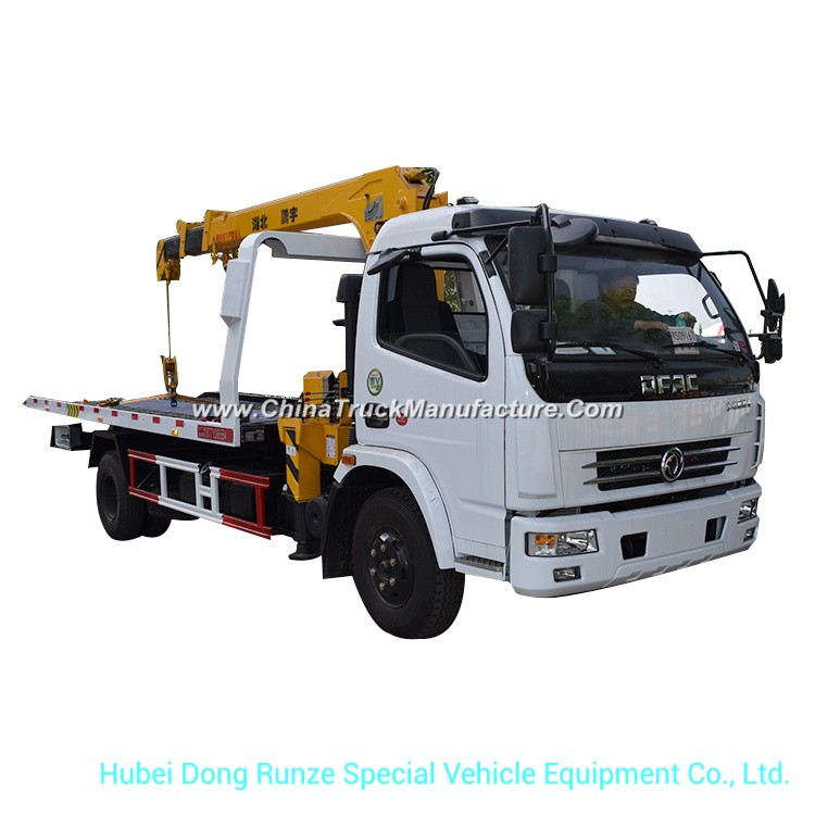 Wrecker Truck Mounted with Crane for Road Recovery Sevice Tow 5 Ton