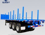 50 Tons Timber Transport Flat Bed Semi Trailer with Bolster
