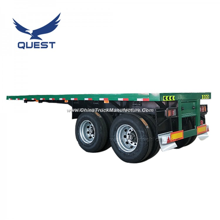 Quest 20FT 2 Axles Flatbed Container Semi Truck Trailers