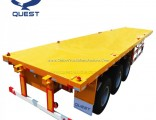 Tri-Axle 40 Foot Container Locks Flatbed Semi Trailers