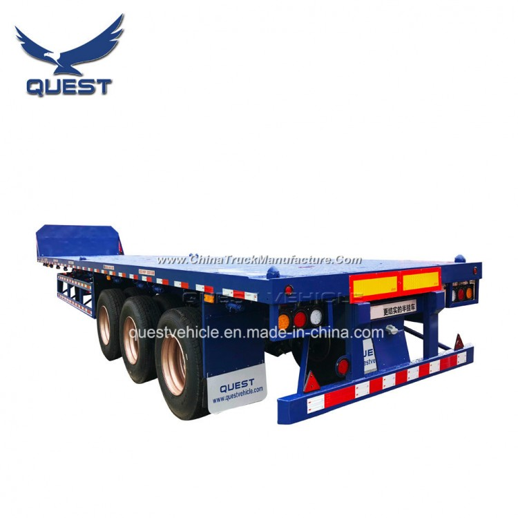 40FT 60 Tons Container Flat Bed Semi Trailers Platform Trailer