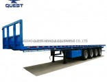 Chinese 3 4 Axle 40FT 70ton Flatbed Container Semi Trailer