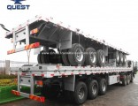 40 Feet Spring Suspension Flatbed Container Transportation Semi Trailer