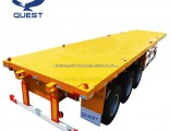 Steel Material 40FT Truck Trailer Used Flat Deck Semi Trailer