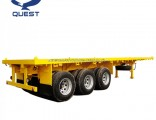 Quest Vehicle 3 Axle Flatbed 40 Ton 40FT Container Semi-Trailer