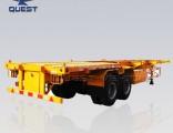 2 Axles 40FT Container Skeleton Semi Trailer