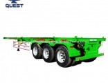 3 Axles Container Chassis Skeleton Semi Truck Trailer 40FT Trailers