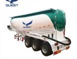 Quest Manufacturer 55ton Compressor Pneumatic Cement Bulker Tanker Truck Trailer