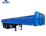 80 Tons Side Wall Cargo Flatbed Utility Trailers with Locks
