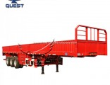Quest 3 Axles 40tons 50t Side Wall Cargo Semi Trailer