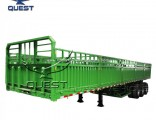 Bulk Cargo Transport 3 Axles 60 Tons Curtain Side Semi Trailer